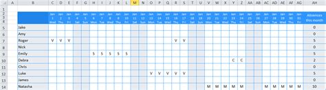 excel staff holiday planner  ultimate  template