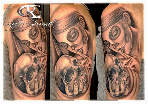 catrina chicana tattoo tatuajes en valencia rafa granell