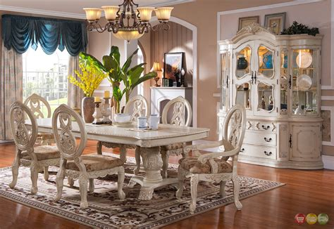 white dining room sets formal traditional antique white formal dining room furniture set