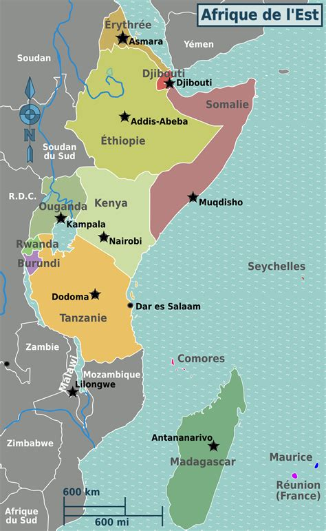 east africa map file east africa regions map fr png wikimedia commons