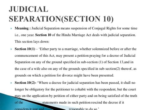 hindu marriage act section 10 matrimonial remedies under hindu marriage act 1955