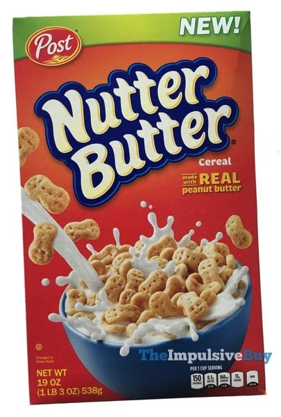 Planters Peanut Shaped Cookies by Review Post Nutter Butter Cereal The Impulsive Buy