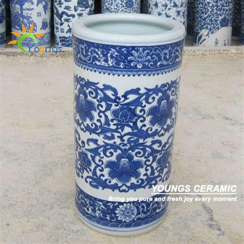Ceramic Umbrella Stand Vase by Varied Blue And White Ceramic Cylinder Umbrella