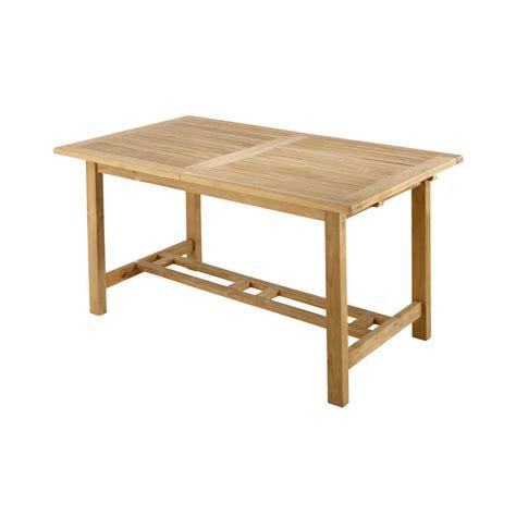 Teak Garden Table Solid Teak Garden Table W 157cm Ol 233 Maisons Du Monde