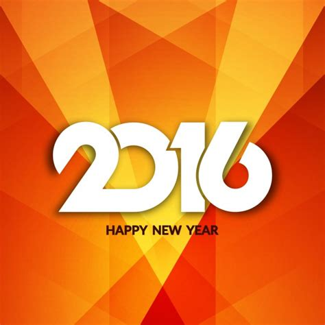 new year 2016 oranges orange and polygonal new year 2016 background vector