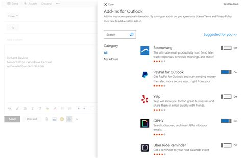 Outlook Search Within Email Best Outlook Add Ins Windows Central
