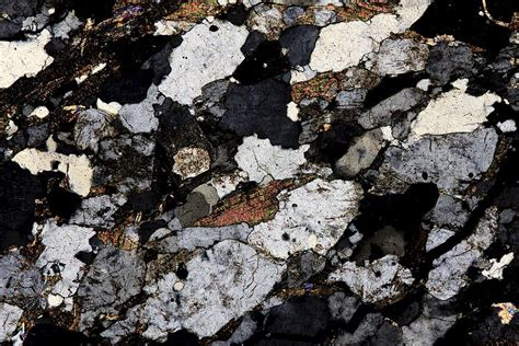 metamorphic rocks thin section gneiss thin section polarised lm photograph by pasieka