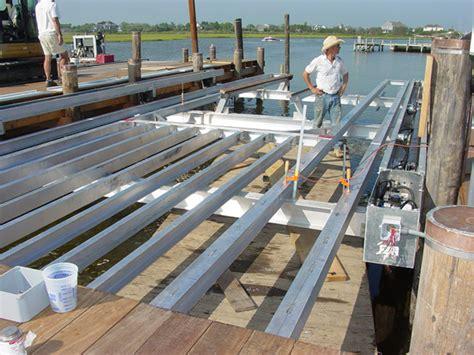boat lift installation no profile boat lifts installation