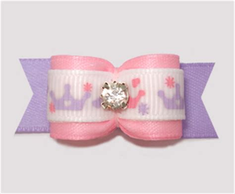 Tiera Pink Soft crowns tiaras bowbiz bows top quality handmade bows yorkie maltese shih tzu