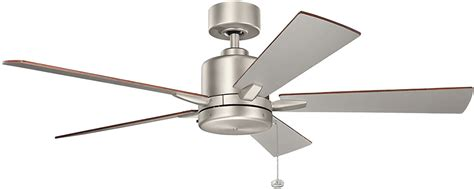 kichler 330242ni bowen brushed nickel ceiling fan kic