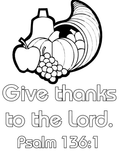 Printable Christian Thanksgiving Coloring Pages