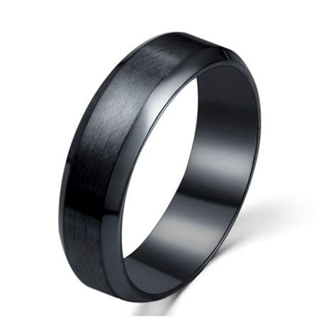 Ring Titanium Bvl 3 stainless steel ring band titanium wedding black 9 x3a3 ebay