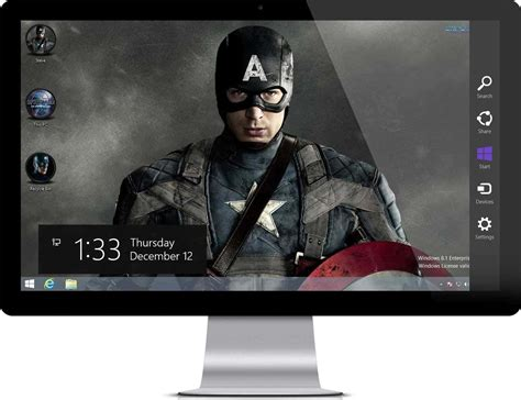 theme windows 10 marvel captain america the winter soldier theme for windows 7 and 8