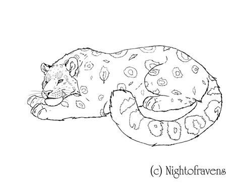 snow leopard coloring pages az coloring pages