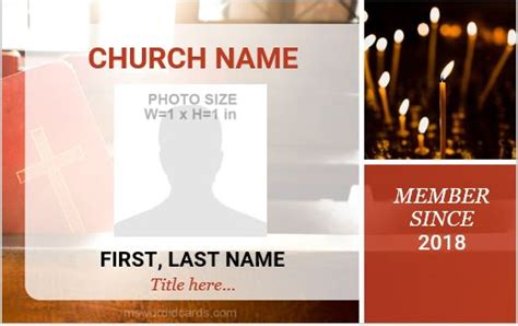 Church Id Card Template by 5 Best Church Id Card Templates For Ms Word Microsoft