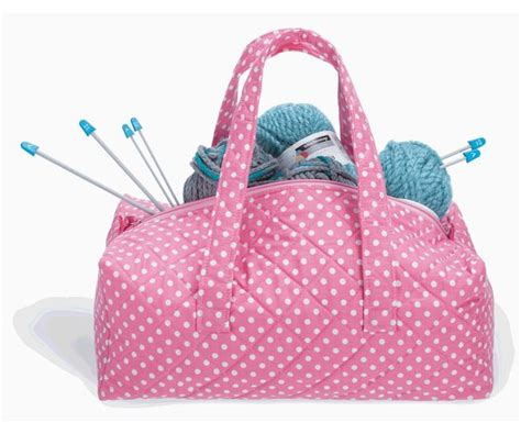 knit bags milward knitting bag pink dot