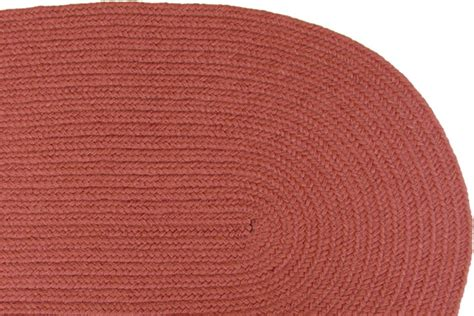 Solid Color Braided Rugs by Solid Terracotta Braided Rug