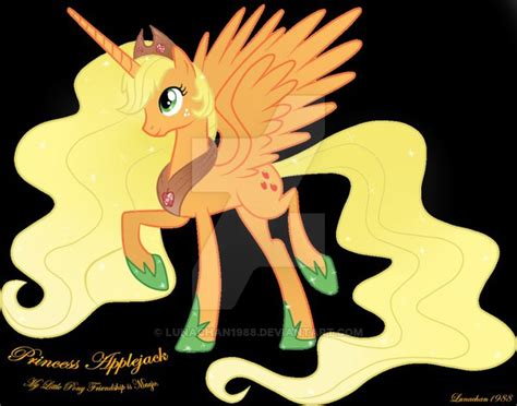 imagenes de apple jack de my little pony my little pony princess applejack by lunachan1988 on