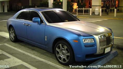 roll royce ghost blue matte blue wrap rolls royce ghost