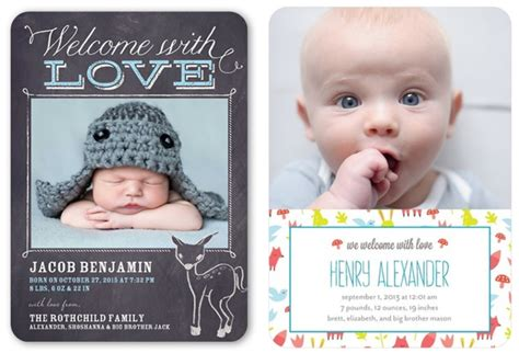 baby announcement with rustic baby boy birth announcements rustic baby chic