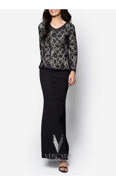 Baju Terusan Wanita Dress Black V Lace S baju kurung lace peplum and peplum on