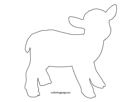 lamb template coloring page