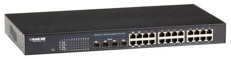gigabit switch 4 gigabit switch 24 pory 4 sfp uplinks leoptics