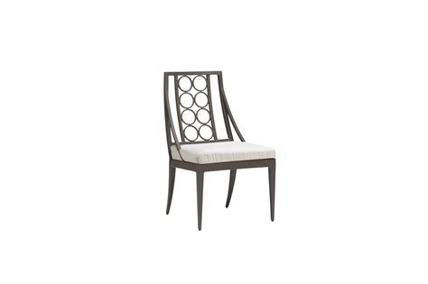 brown jordan luna dining side chair  images side