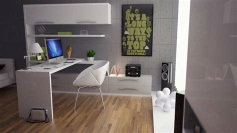 green gray white office decor interior design ideas