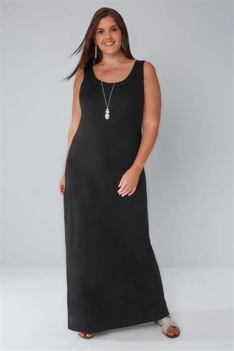 Jersey Dress Gamis Jersey 26 black plain sleeveless jersey maxi dress plus size 16 to 36