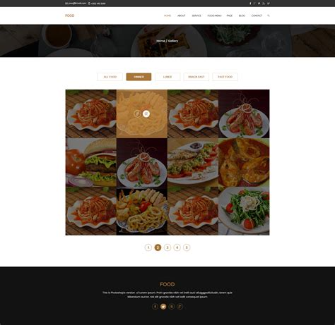 food template psd food restaurant psd template by webitrangpur themeforest