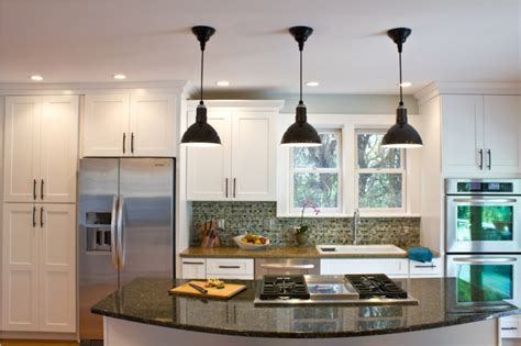 Pendant Lighting For Island Kitchens Uncategorized Rustic Stained Wooden Island For Kitchen Black Polished