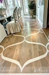 painted wood floor to mimic a rug for the home rugs floors floors woods and
