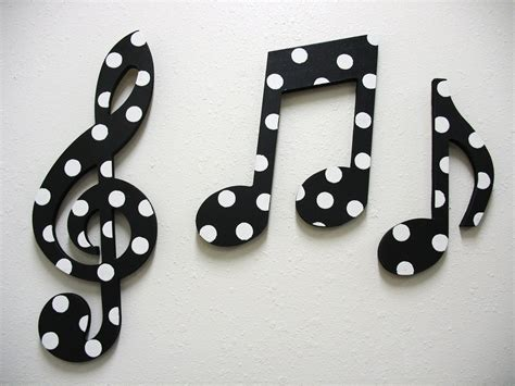 music decor items similar to music notes wall decor black and white on