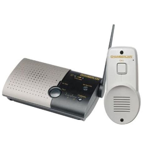 Wireless Home Intercom System by Chamberlain 1 Channel Wireless Doorbell And Intercom