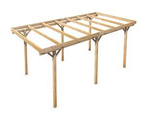 How To Build An Awning Over A Patio Freestanding Solid Wood Carport Flat Roof Kvh 3000x5000mm