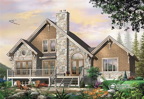 house plans with rear view plan image
