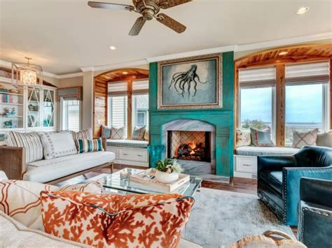 miami turquoise and orange bedroom transitional with orange living room photos hgtv