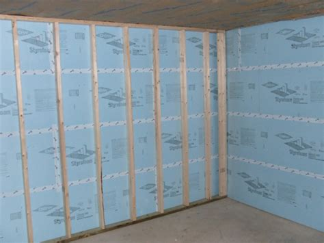 image gallery insulating basement walls