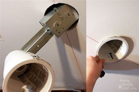 How To Install A Ceiling Light Fixture Without Existing Wiring How To Install Recessed Lights Pretty Handy