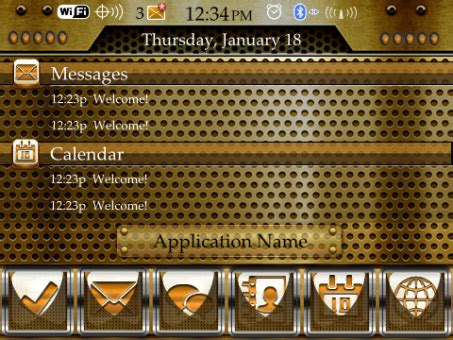themes for blackberry 9360 os 7 gold theme for blackberry curve 9350 9360 9370 os7