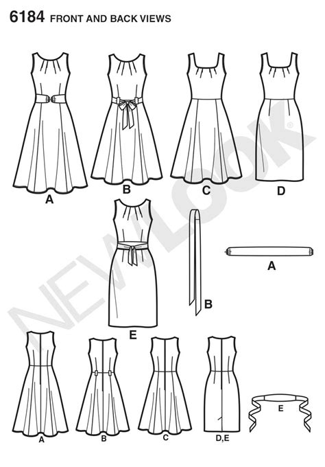 pattern review best of 2013 new look 6184 misses dress