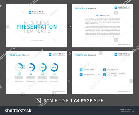 Marketing Kit Presentation Vector Template Modern Stock Vector 432002773 Shutterstock Marketing Kit Template