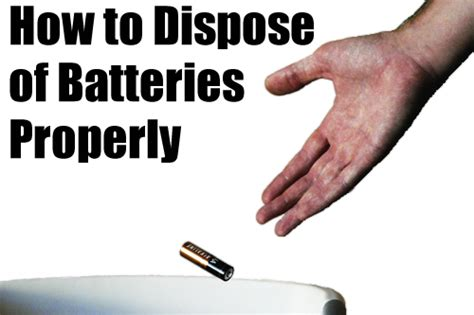 How To Dispose Of by How To Dispose Of Batteries Properly