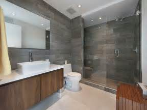 Modern master bathroom with frameless shower doors by dulles glass and