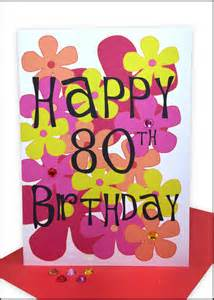 happy 80th birthday greeting card flowers lils cards