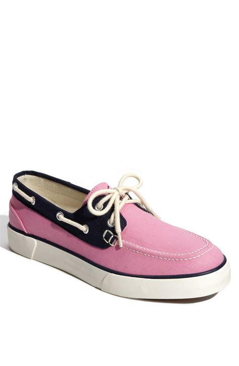 polo lander boat shoes polo ralph lauren lander boat shoe in blue for men pink