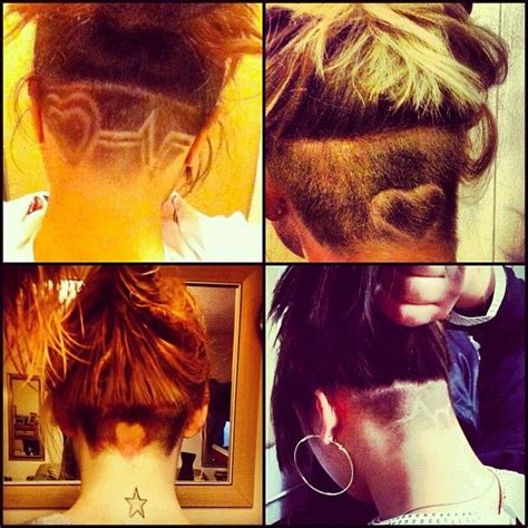 heartbeat hair tattoo mines better lol bt still cute hair styles