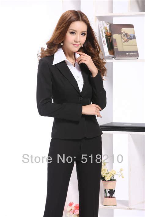 Klp130 Black Ellegent Fashion Wanita Impor best plus size black formal suits blazer for ol office