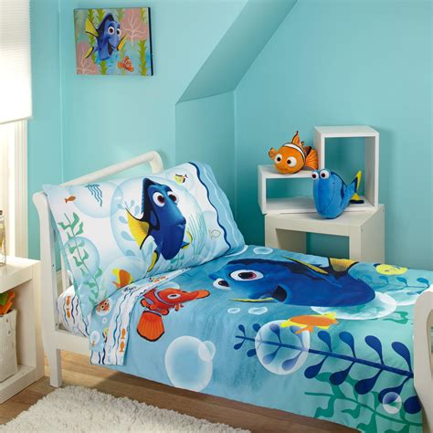 disney toddler bedding amazon com disney finding dory bubbles 4 piece toddler
